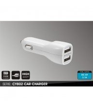 PLUG IN CAR CHARGEUR CY802 DOUBLE USB PORT 2.1A Tunisie