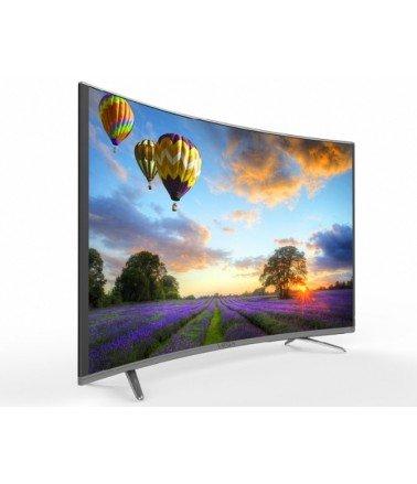 "Téléviseur VEGA 65"" UHD LED 4K Smart TV Curved -Silver"
