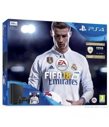 Console PS4 slim 500 Go + FIFA 18
