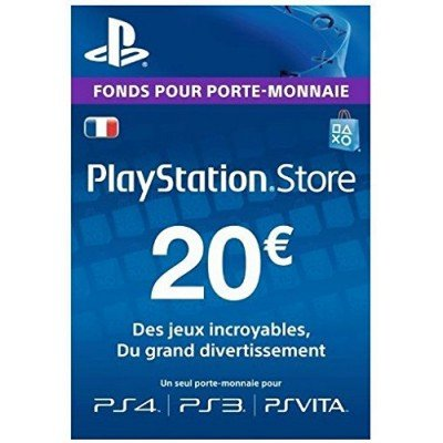 Carte playstation gaming PS4 Store -20€ Tunisie