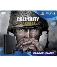 CONSOLE PS4 SLIM 1 TO + CALL OF DUTY WWII EURO NEW Tunisie
