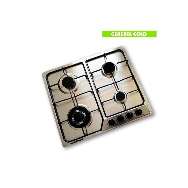 plaque de cuisson g n ral gold gaz 4 feux inox chez wiki. Black Bedroom Furniture Sets. Home Design Ideas