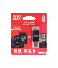 GOODRAM AIO 8GB MICRO SD CL10 + LECTEUR DE CARTES carte micro sd + adaptateur sd Tunisie