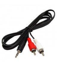 Câble audio stéréo HAMA 3,5 mm 2x RCA 1.8m Tunisie