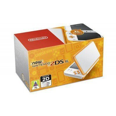Console New 2DS XL Blanc + Orange Tunisie