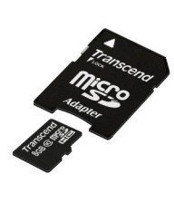 Carte mémoire Micro SD Secure Digital Trascend 8Go Tunisie