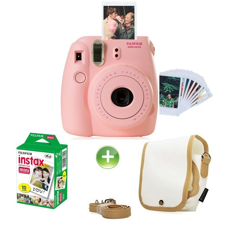 appareil photo fujifilm instax mini 8 rose chez wiki tunisie. Black Bedroom Furniture Sets. Home Design Ideas