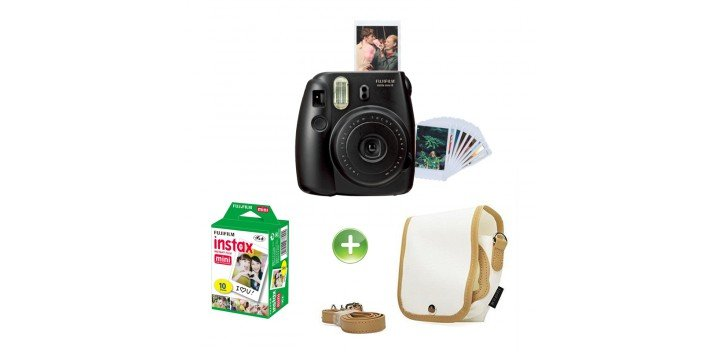 appareil photo fujifilm instax mini 8 noir chez wiki tunisie. Black Bedroom Furniture Sets. Home Design Ideas