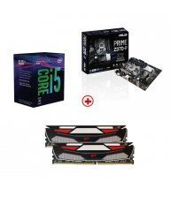 KIT I5 8400 + Z370-P + 16 GO DDR4 2400 Tunisie