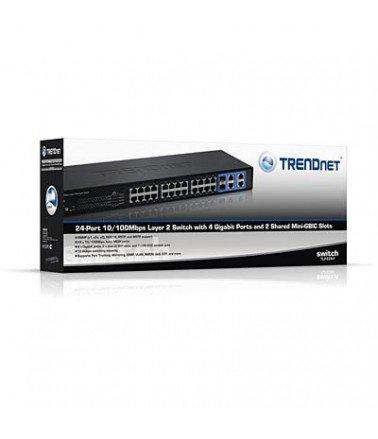 switch 24 Port Trendnet TL2-E284 Layer2 10/100