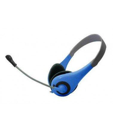 Microphone casque Vcom DE 125 Bleu