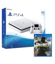 CONSOLE PS4 SLIM 500G BLANCHE + Call of duty Infinite Warfare offerte Tunisie