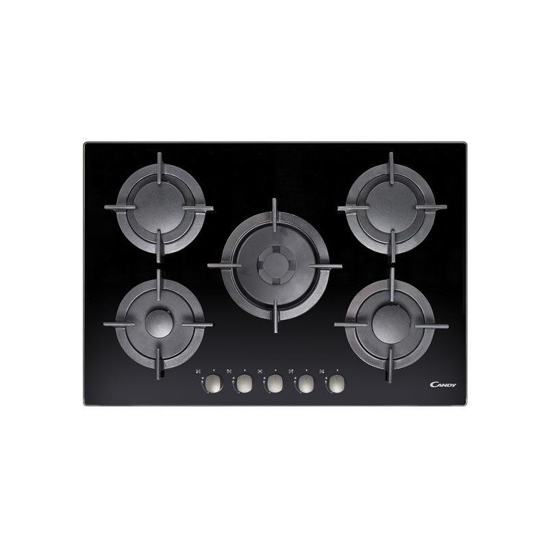 plaque de cuisson candy 5 feux cvg75swgnx noir chez wiki. Black Bedroom Furniture Sets. Home Design Ideas