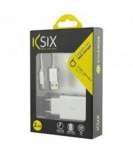 CHARGEUR 2.4A KSIX MÉTALISÉ + CÂBLE USB À USB DE TYPE C argent Tunisie