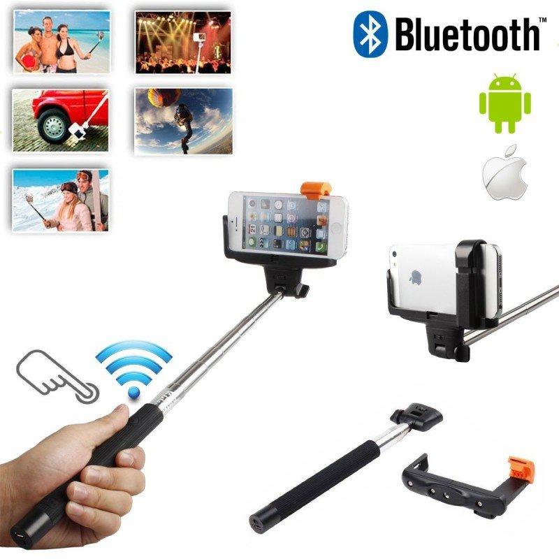 Selfie stick bluetooth avec t l commande noir chez wiki - Le coussin telecommande de chez brookstone ...