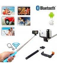 Selfie Stick Bluetooth avec télécommande bleu Tunisie
