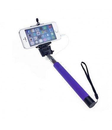 Perche télescopique selfie Bluetooth avec Télécommande Violet