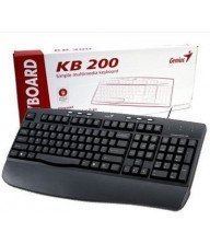 Clavier Genius KB-200 PS/2 Noir Tunisie
