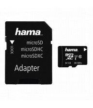 Carte mémoire Hama MicroSDXC 64 GB classe 10 UHS-I 80 MB/s + adaptateur/photo Tunisie