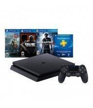 PlayStation 4 Hits Bundle V4 - 500Go - Noir + 3 jeux Tunisie