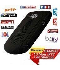 Récepteur SAMSAT 9090 HD MINI 1 an Sharing + 15 mois IPTV Tunisie