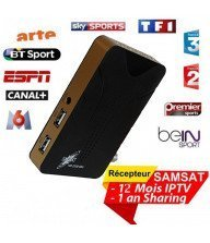 Récepteur SAMSAT 2300 HD MINI 1 an Sharing + 1 an IPTV Tunisie