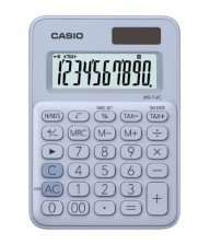 Calculatrice de bureau Casio MS-7UC Bleu Clair Tunisie