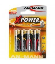 Piles Alkaline Xpower 1.5v AA bl4 ANSMANN Tunisie