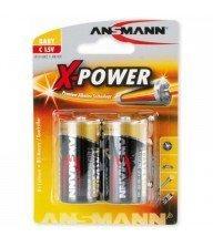Piles Alkaline Xpower 1.5v C bl2 ANSMANN Tunisie