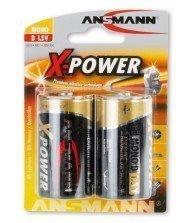 Piles Alkaline Xpower 1.5v D bl2 ANSMANN Tunisie