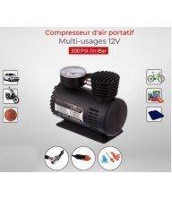 Compresseur d'air portatif multi-usages 12V Tunisie