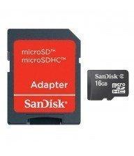 Carte mémoire micro sd Sandisk 16Go avec adaptateur Tunisie