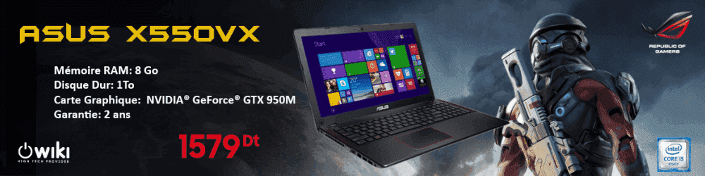 PC -PORTABLE -ASUS- X550VX -I5- 8GO- 1TO -2GO- DÉDIÉE,PC -PORTABLE -ASUS- X550VX-Tunisie