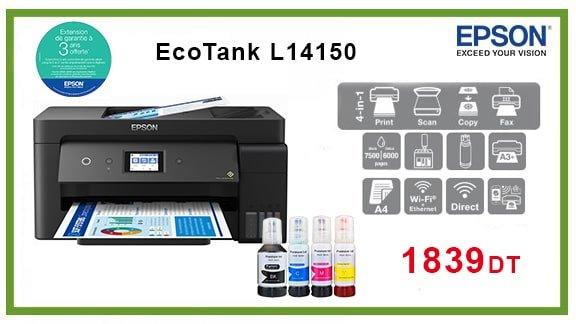 vente ECO TANK L14150 A3 (4 EN 1) WIFI chez wiki en tunisie