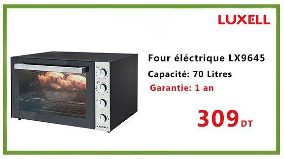 FOUR ELECTRIQUE LUXELL LX9645 70 L NOIR
