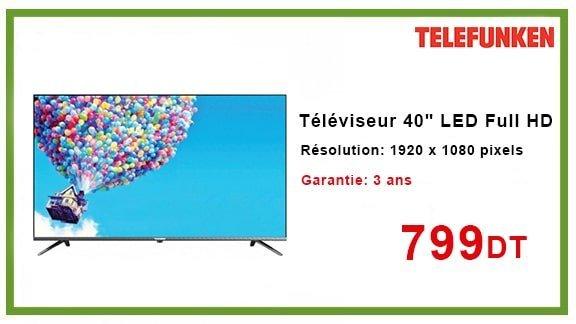 """TÉLÉVISEUR TELEFUNKEN 40"""" M83 LED FULL HD"""