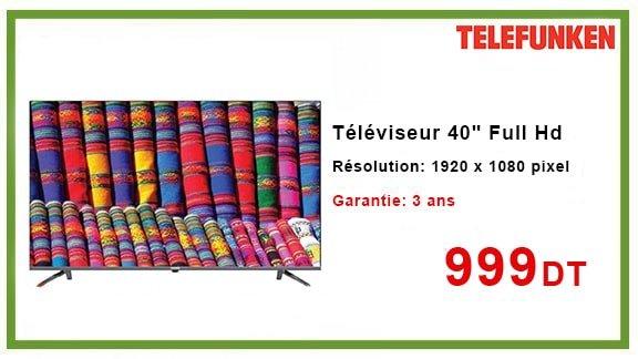 """Téléviseur Telefunken 40"""" Full Hd"""