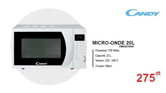 MICRO-ONDE-20L-CMW2070DW-CANDY-BLANC