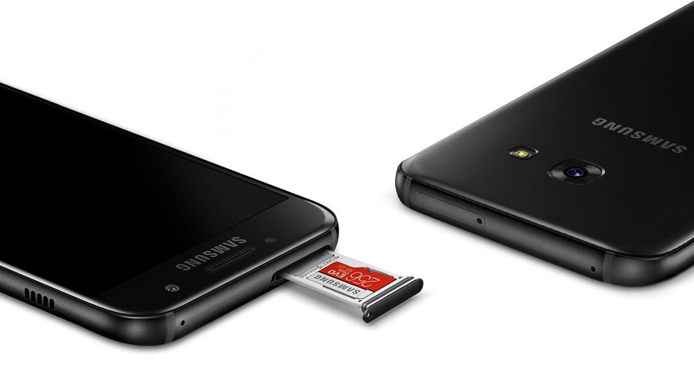 Emplacement SD Card du Galaxy A3 (2017).
