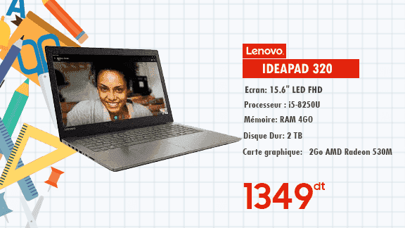 PC PORTABLE LENOVO IDEAPAD 320 -15IKBRA /4 GO/ 2TB